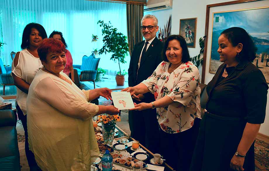 The African Ambassadors Handed a Donation to a Senior Citizens Facility