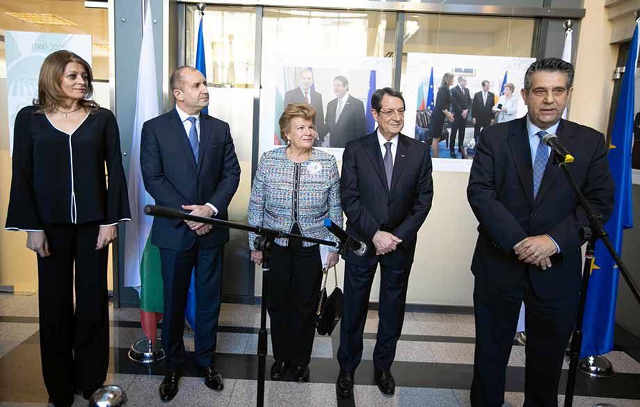 The Presidents of Bulgaria and Cyprus Opened an Exhibition Dedicated to the 60 Years of Diplomatic Relations